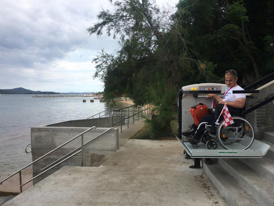 Projekt invalidske rampe za ulaz u more